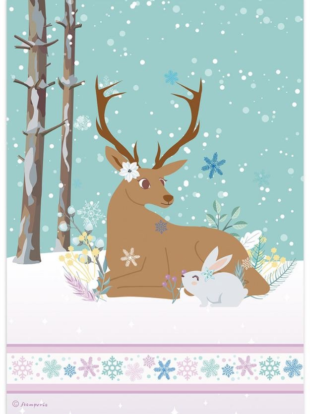 Stamperia Rice Paper for Decoupage -  Deer And Rabbit