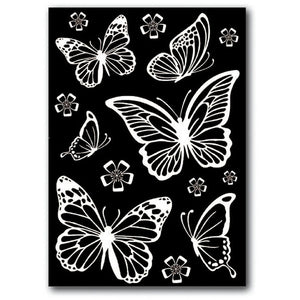 Stamperia - Rub-on Decotransfer - A5 size - Butterflies