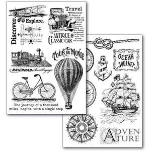 Stamperia - Toner Transfer Paper 2 Sheets Size A4 - Around the World