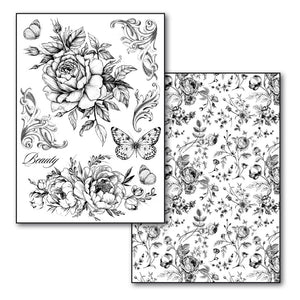 Stamperia - Toner Transfer Paper 2 Sheets Size A4 - Roses and Butterflies