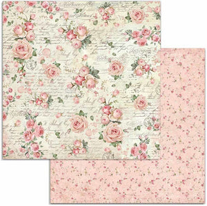 Stamperia - 12x12 Paper - Pink Christmas - Rose Wallpaper