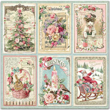 Stamperia - 12x12 Paper - Pink Christmas - Cards