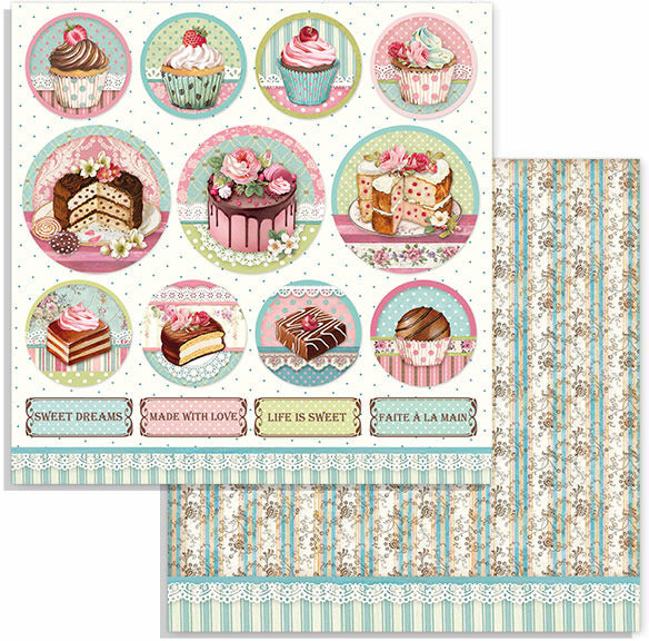 Stamperia - 12x12 Paper - Sweety Mini Cake Rounds