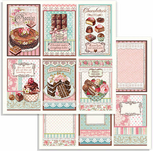 Stamperia - 12x12 Paper - Sweety Chocolate Cards