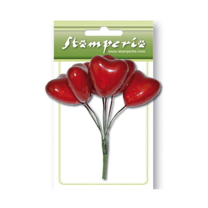 Stamperia - Bouquet Hearts - Hearts Red SFB009