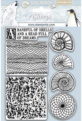 Stamperia - Rubber Stamp - Arctic Antarctic - Shells