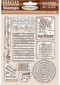 Stamperia - Rubber Stamp - Passion - Music