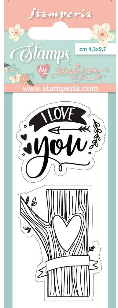 Stamperia - Clear Stamp - Love Story I Love You