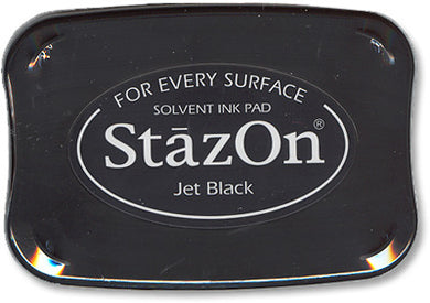 Tsukineko - StazOn Ink Pad, Jet Black