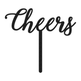 Cheers Wedding Cake Topper - Black