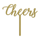 Cheers Wedding Cake Topper - Gold