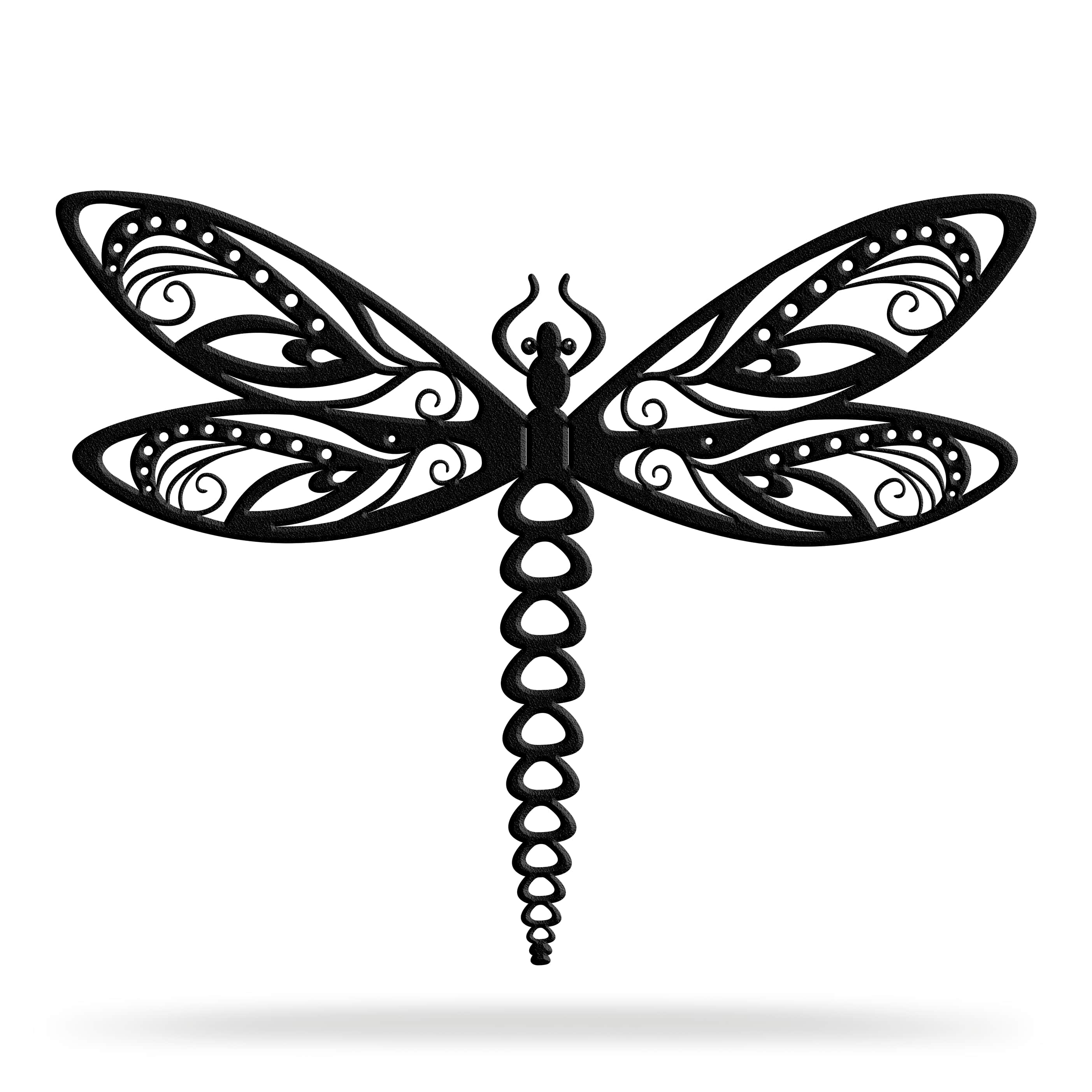 Bluewater Decor Dragonfly Metal Wall Art Home Decor Black