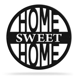 Bluewater Decor Home Sweet Home Metal Wall Art Home Decor Black