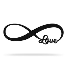Bluewater Decor Love Infinity Metal Wall Art Home Decor Black