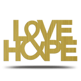 Bluewater Decor Love & Hope Metal Sign Art Gold