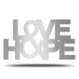 Bluewater Decor Love & Hope Metal Sign Art Silver