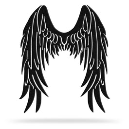Bluewater Decor Angel Wings Metal Wall Art Decor Black