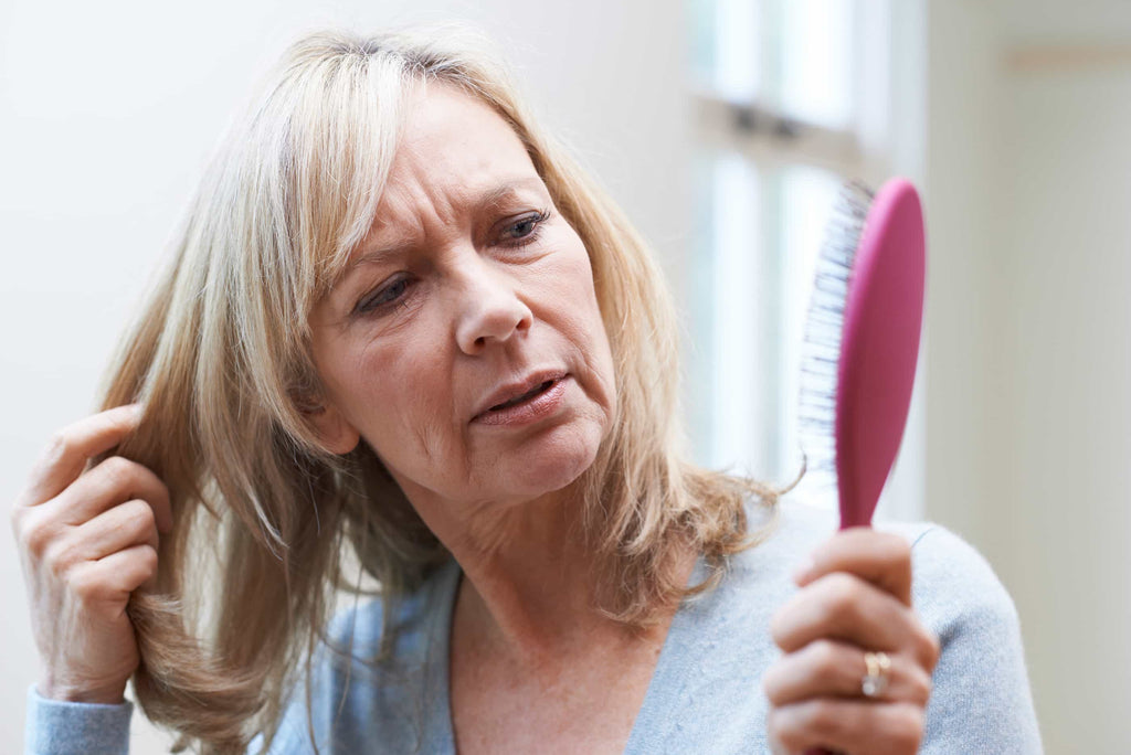 woman older thinning hair