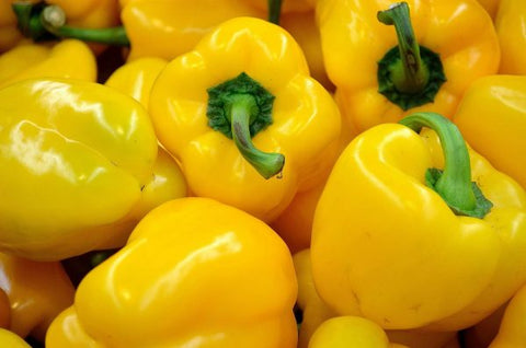 close up yellow pepper
