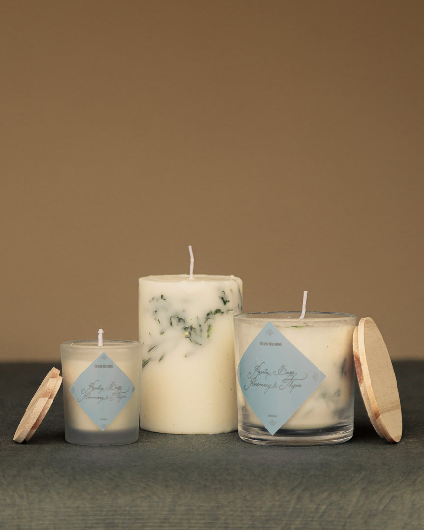 "Trio de Velas ""Parsley, Sage, Rosemary & Thyme"""