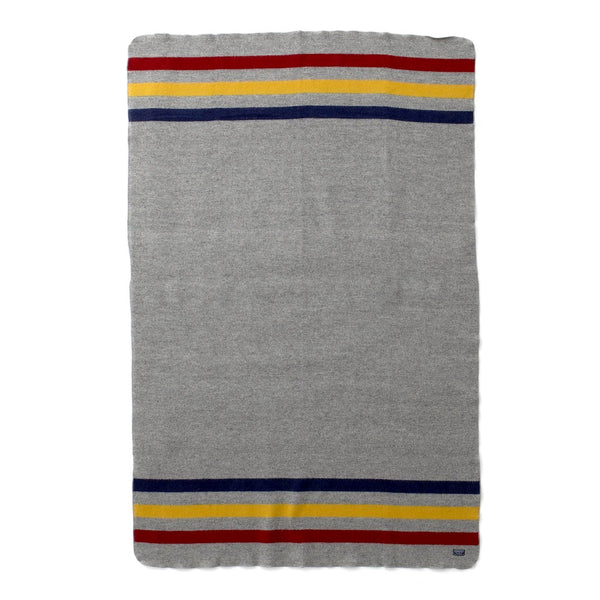 "Manta ""Revival grey multi stripe throw ""Edición Limitada"", 80% lana merina y 20% algodón - Just the Sea by SEA LOVERS"