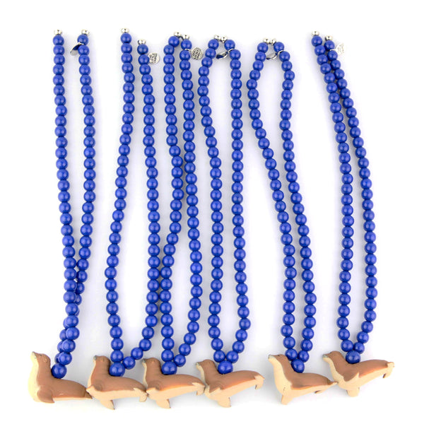 JTS Blue necklaces four sea iconic animals, collab