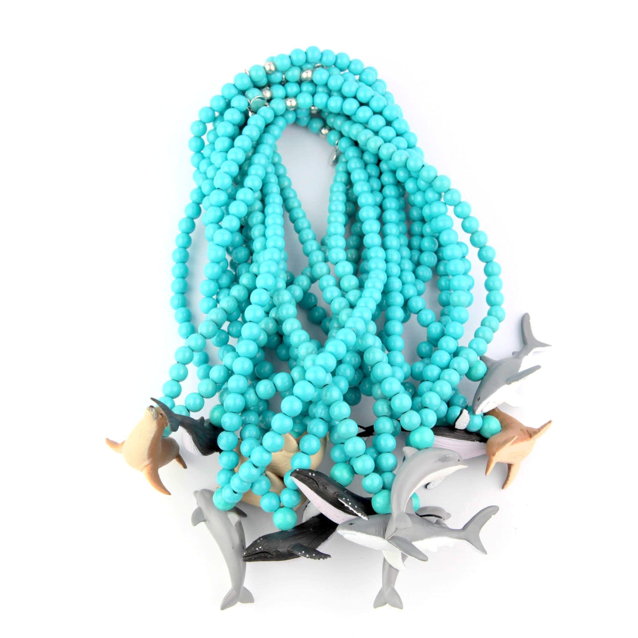 Turquoise necklaces four sea iconic animals, collab