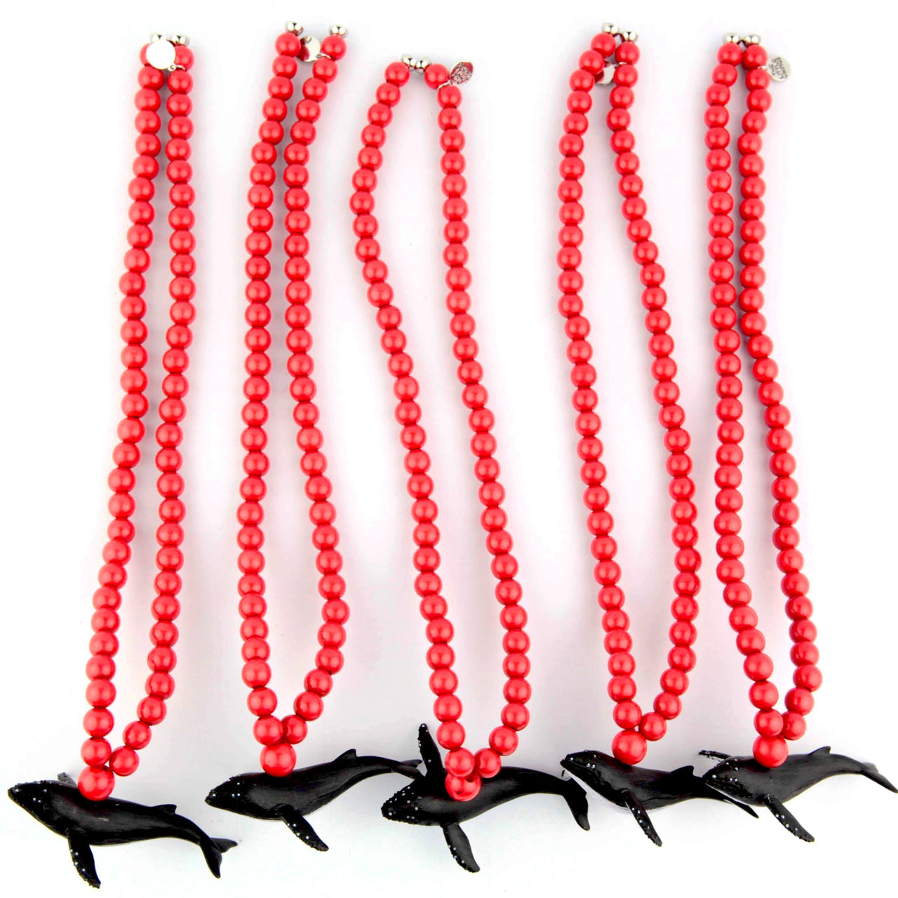 Red necklaces four sea iconic animals, collab
