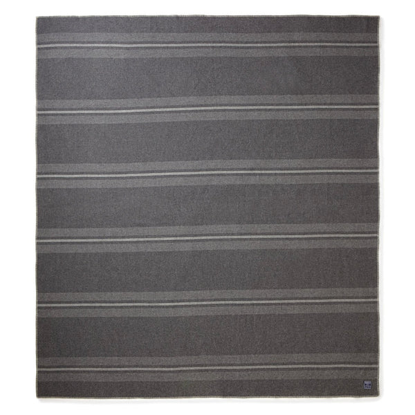 "Manta ""Cabin blanket, charcoal, heather grey & natural"", 100% lana merina - Just the Sea by SEA LOVERS"