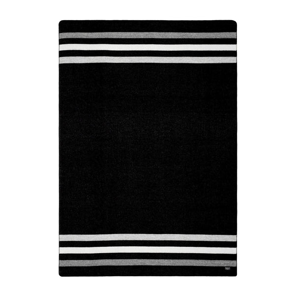 "Revival stripe black & heather grey throw ""Edición Limitada"""