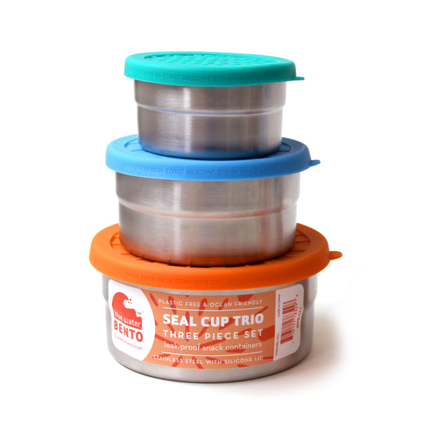Seal cup trio  ECOLunchbox- Just the Sea by SEA LOVERS