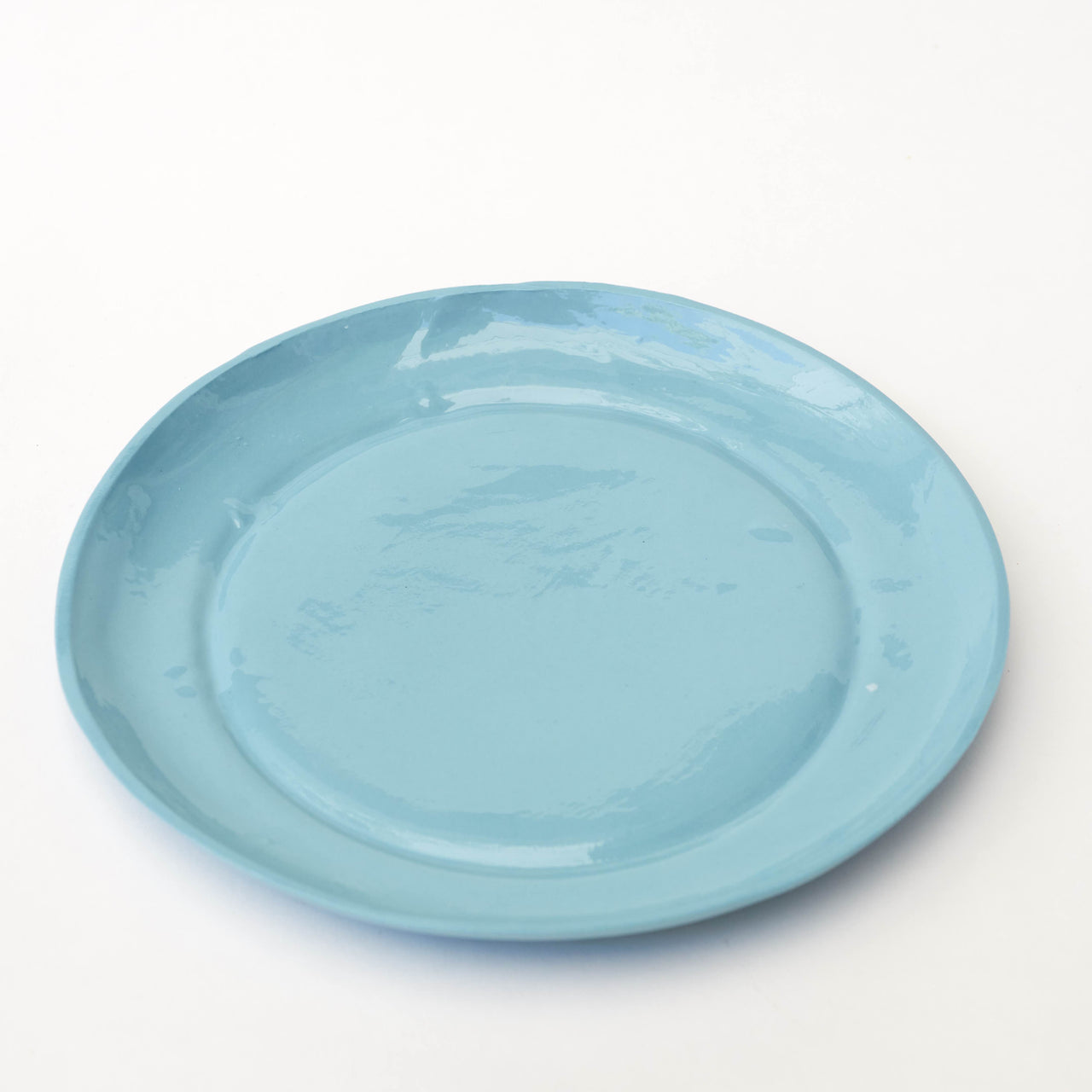 "Plato llano de porcelana tamaño postre, ""Aguas claras"" (I) - Just the Sea by SEA LOVERS"