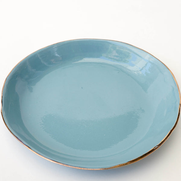 "Plato llano de porcelana, ""Aguas claras tocadas por el sol"" (I) - Just the Sea by SEA LOVERS"