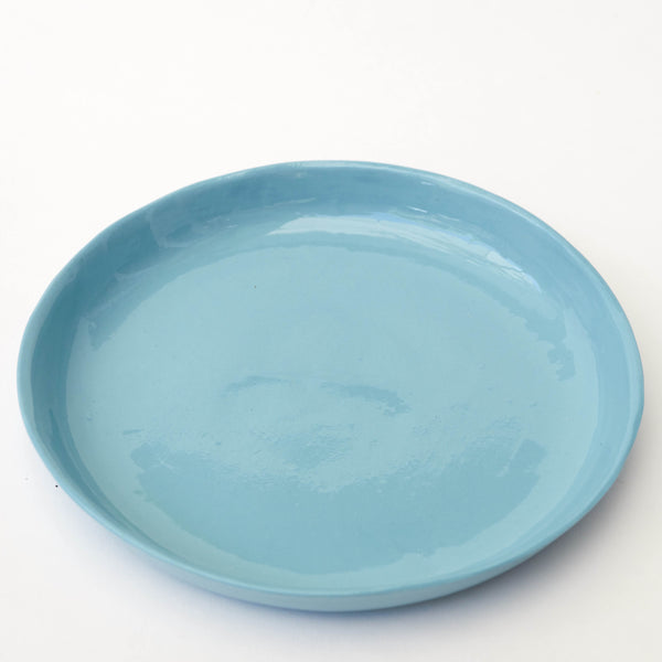 "Plato llano de porcelana tamaño postre, ""Aguas claras"" (II) - Just the Sea by SEA LOVERS"