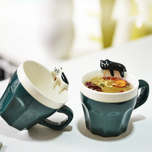 Chillin Kittea Mug - Multiple Colours