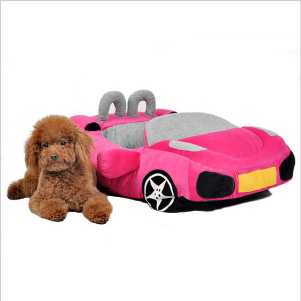 New Super Cool, Comfy and Stylish (Furcedes) Sports Car Bed for Kittens, Cats and small Dogs-Soft and cushioned. Available in Black, Red, Yellow and Pink!