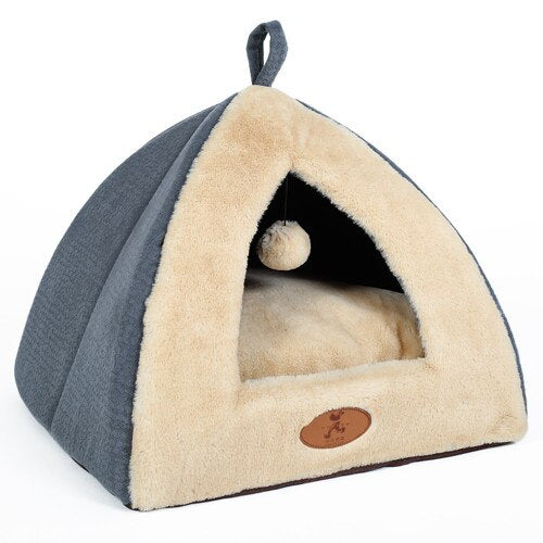 Hoopet Cat House Bed for Cats Warm Pet Bed Fashion Dog Tent House for Cat Cute Puppy Kennel