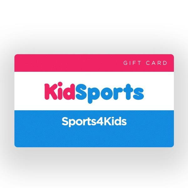 Kidsports Gift Cards (must be prepaid)