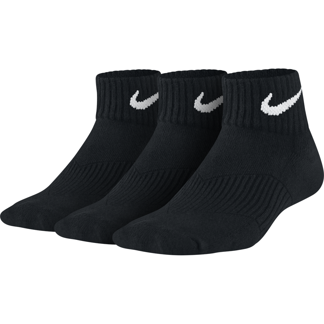 NIKE 3PK COTTON CUSHION QUARTER YOUTH