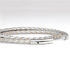 SUIVRE | LEATHER BRACELET | SILVER-STEEL - MASISTES