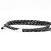 SUIVRE | LEATHER BRACELET | BLACK -STEEL - MASISTES