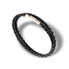 SUIVRE | LEATHER BRACELET | BLACK- in ROSE GOLD - MASISTES
