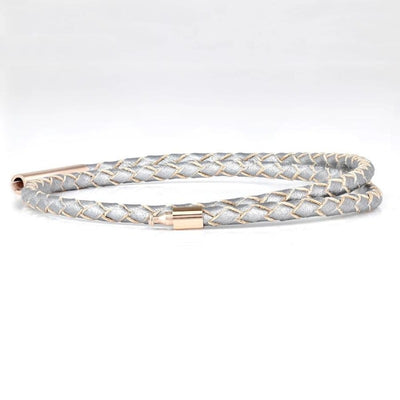 SUIVRE | LEATHER BRACELET | SILVER- in ROSE GOLD - MASISTES