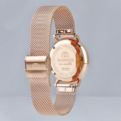 En Maille | women's watch | 36MM | STEEL IN ROSE GOLD-MESH - MASISTES