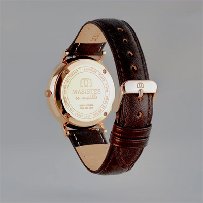 Classic En-Maille | ROSE GOLD / LEATHER / 36MM | Men's Watch