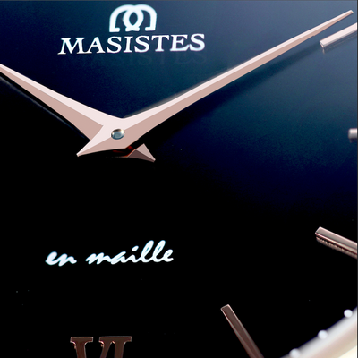 En Maille | 36MM | STEEL IN ROSE GOLD-LEATHER-women - MASISTES