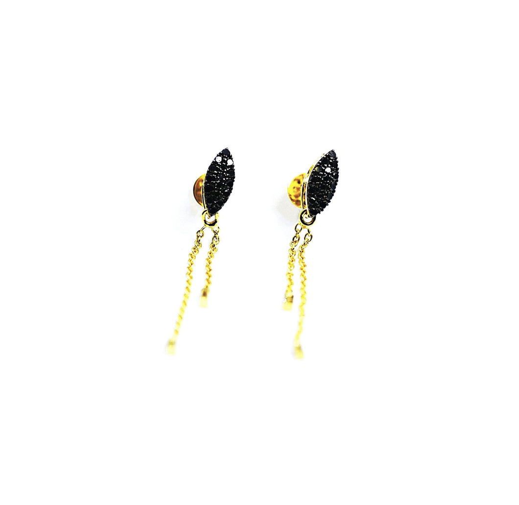 18K Petal Fringe Diamond Earrings