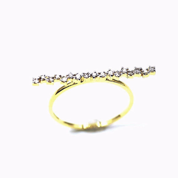 18k Diamond stick Statement Ring - Eraya Diamonds