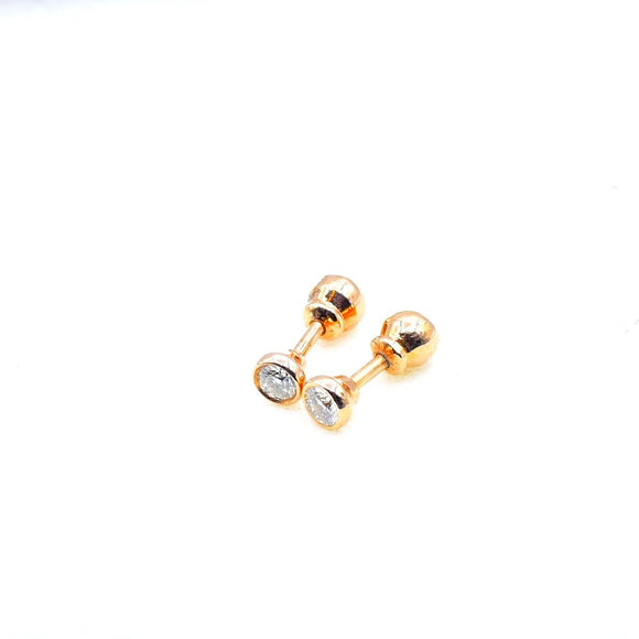 18k Bezel set Diamond Studs - Eraya Diamonds