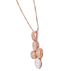 18k Organic Form Diamond Necklace - Eraya Diamonds